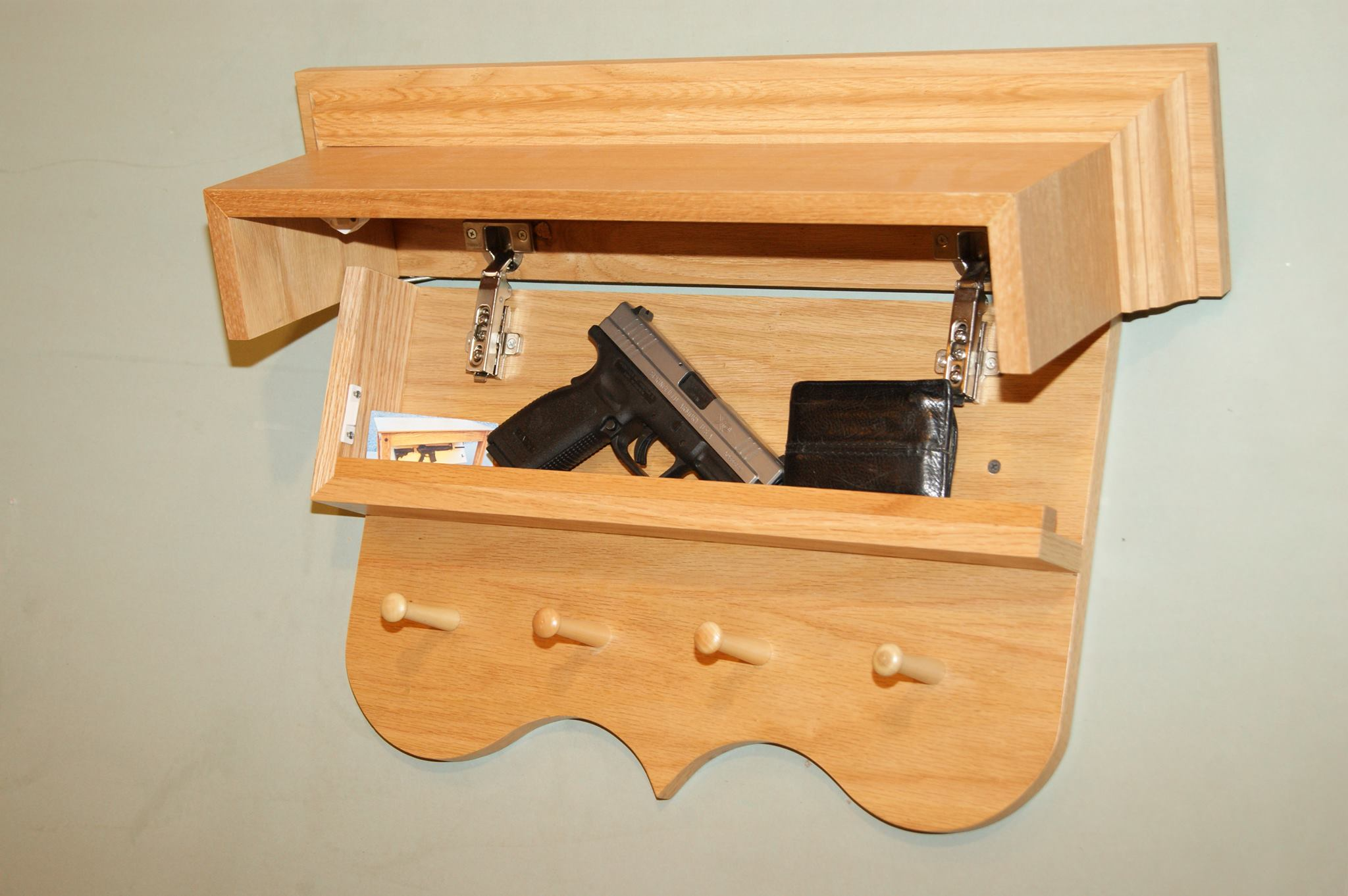Secret Compartment In Coat Rack StashVault